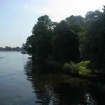 Вид на Лопухинский сад с Каменноостровского моста