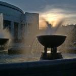 Солнце в фонтане