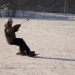 Сноуборд в озерках зимой