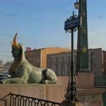 Сфинкс на Египетском мосту.