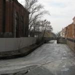 Адмиралтейский канал. Вид на 1-ый мост Круштейна.
