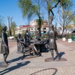 Великие зодчие Петербурга. Скульптурная группа  у Кронверкского канала.