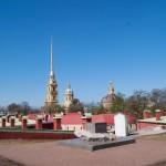 Петропавловская крепость. Вид с  Государева бастиона на Петропавловский собор.
