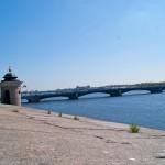Петропавловская крепость. Вид на Троицкий мост с крыши Государева бастиона.