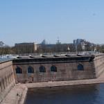 Петропавловская крепость. Государев бастион. Вид с крыши Невской куртины.
