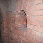 Петропавловская крепость. Бойница в наружной стене потерны Государева бастиона..