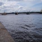 Троицкий мост. Вид с Дворцовой набережной.