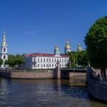 На Крюковом канале. Вид на Никольский собор и Красногвардейский мост.