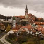 Чешский Крумлов: вид от автостанции
