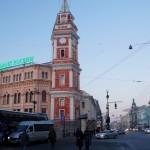 Невский проспект и башня Городской думы.