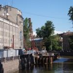 Ремонт набережной канала Грибоедова.