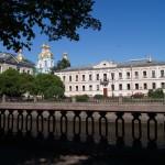 На канале Грибоедова. У Никольского собора.