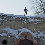 Копорье: на крепостных стенах.