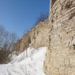 У крепости Копорье: часть стены, сохранившаяся с 1297 года.