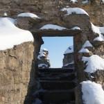 Крепость Копорье. Подъем на вершину Южной Воротной башни.