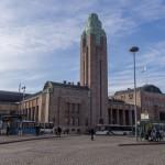 Башня Центрального вокзала в Хельсинки.