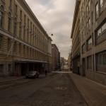 На улицах Хельсинки в воскресенье утром.