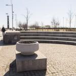 У главной аллеи в парке 300-летия Петербурга.