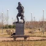 Памятник Франсиско де Миранда в парке 300-летия  Петербурга.