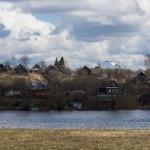 Старая Ладога. Деревня Лопино на восточном берегу Волхова.