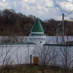 Успенский монастырь в Старой Ладоге. Вид на Волхов.