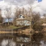 На реке Ладожка в Старой Ладоге.