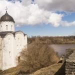 На стенах крепости Старая Ладога.