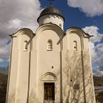 Храм святого Георгия в крепости Старая Ладога.