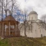 В Староладожском Успенском монастыре.