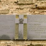 Мемориальная доска в память поляков - узников Шлиссельбурга.