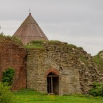 Шлиссельбургская крепость Орешек. У входа в Цитадель.