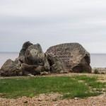 На берегу Финского залива. Обломки Гром-камня.