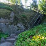 Котка. Лестница на вершину водопада Сапокка.