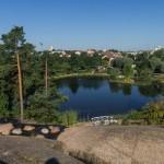Парк Сапокка в Котке. Вид на город.