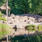 Котка. Каменные ступени в парке Сапокка.