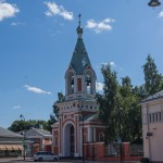 Южная Финляндия. Православная церковь Петра и Павла. Колокольня.