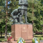 Южная Финляндия. Памятник офицерам.