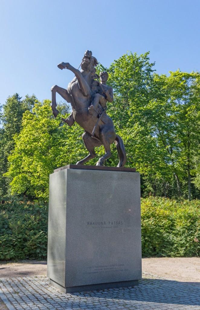 """Лаппеенранта. Памятник драгуну (""""Rakuuna Patsas"""", 1982)."""