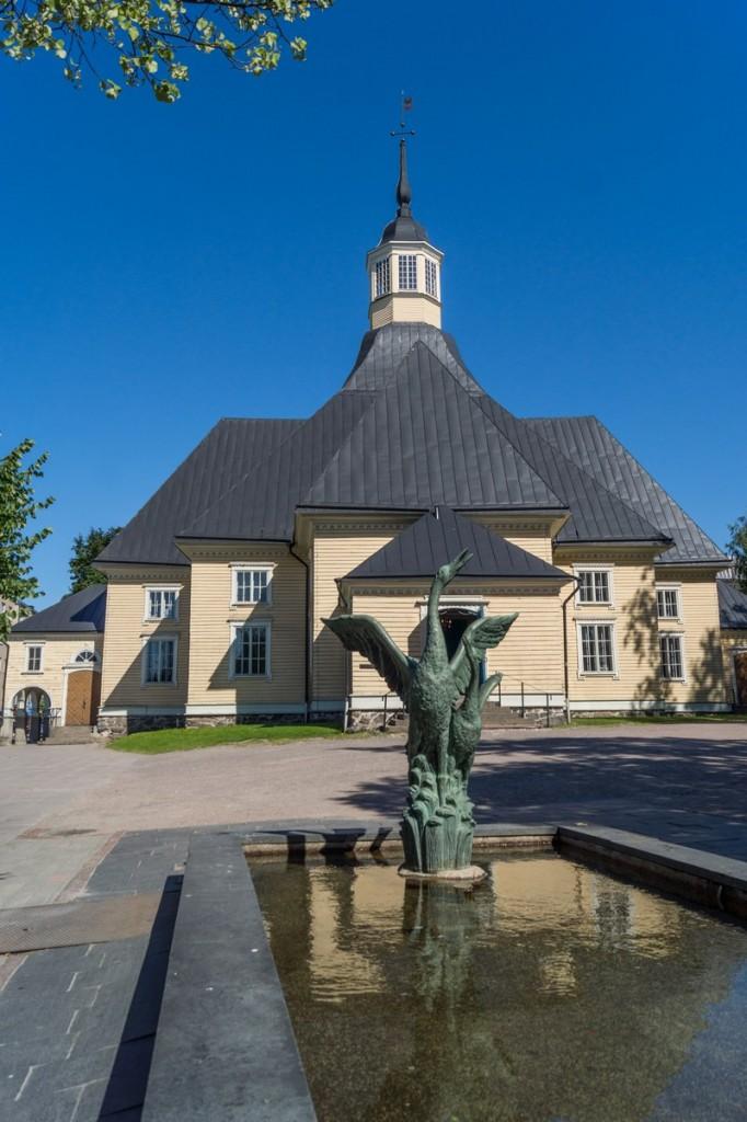 В Лаппеенранте. Лютеранская церковь Девы Марии.