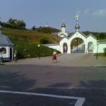 В Холковском монастыре. Святые врата.