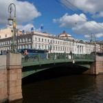 Зеленый мост через Мойку.