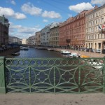 Вид на Мойку с Зеленого моста.