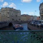 На реке Мойке. Вид с Певческого моста. Хитрый поворот в Зимнюю канавку.