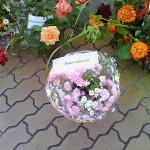 """Старый Оскол. В парке Металлургов в микрорайоне Олимпийском. Конкурс """"Вальс цветов"""". Букет невесты."""