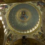 Кронштадт. Морской Никольский собор. Купол. Вид изнутри.