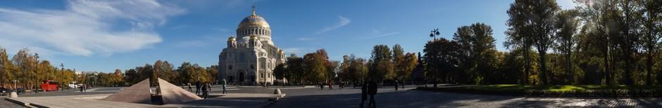 Кронштадт. Морской Никольский собор. Памятник адмиралу Макарову