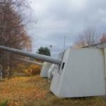 Музей Дороги жизни в поселке Ладожское озеро. Артиллерия на защите Дороги жизни.
