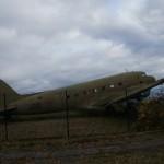 Музей Дороги жизни в поселке Ладожское озеро. Двухмоторный самолет Ли-2.