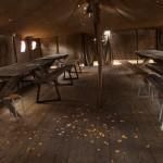 Музей Дороги жизни в поселке Ладожское озеро. Большая палатка. Столовая или штаб.