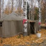 Музей Дороги жизни в поселке Ладожское озеро. Большая палатка.